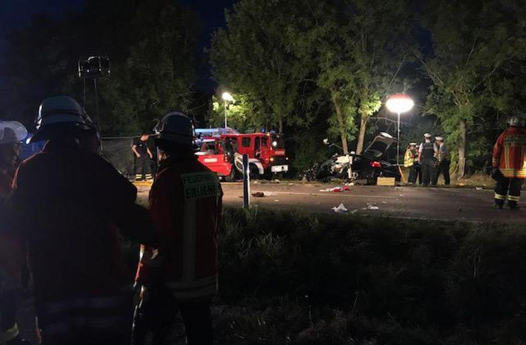 Schwerer Unfall zwischen Löchgau und Erligheim Foto: 7aktuell.de/Simon Adomat