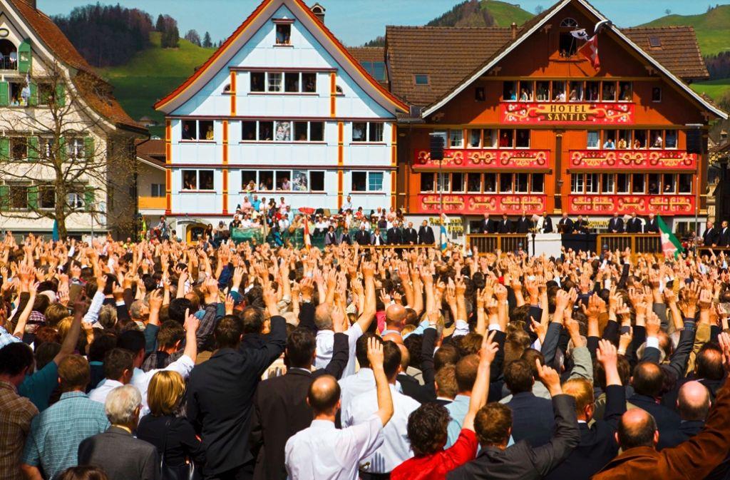 In der Landgemeinde Appenzell in der Schweiz Foto: laif
