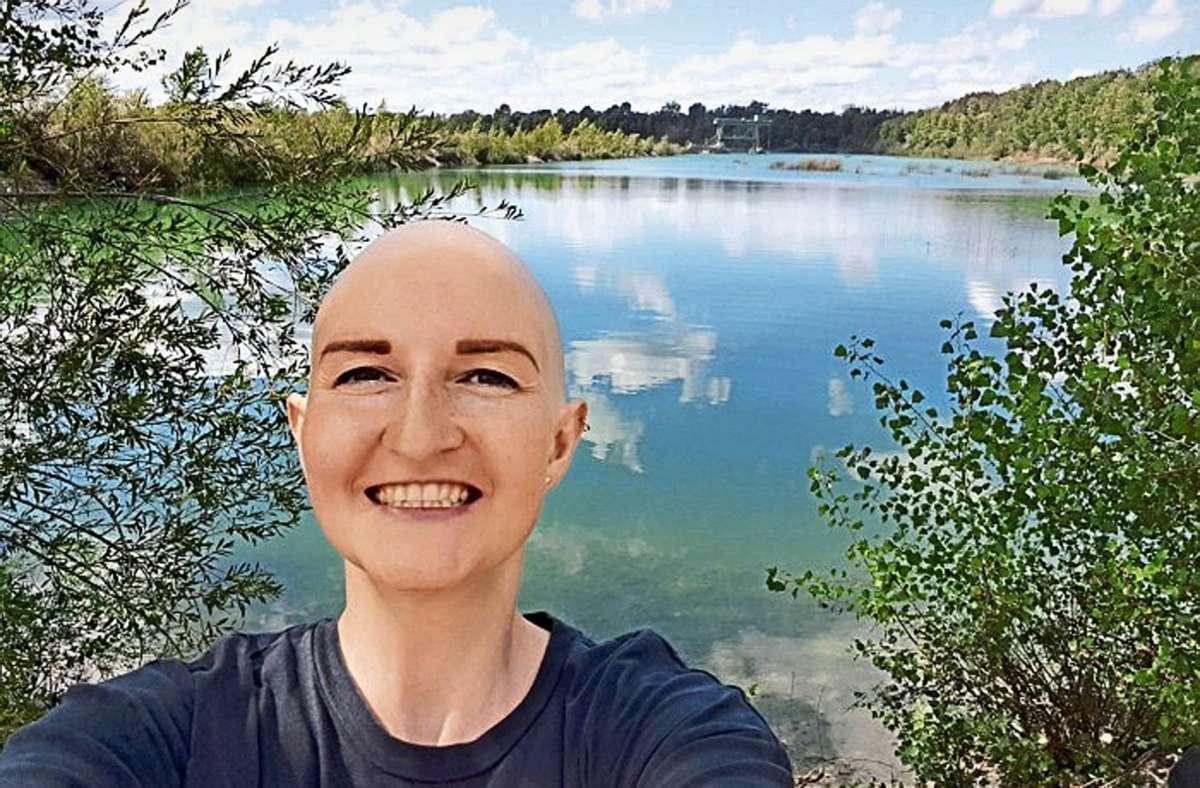 Trotz der Diagnose hat Regina Schumacher ihre Lebensfreude behalten. Foto: DKMS