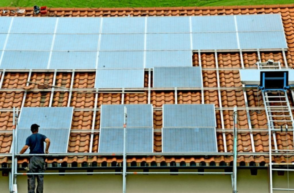 Ein  wichtiger Baustein im Stuttgarter Energiekonzept:  die Fotovoltaik soll stark ausgebaut werden. Foto: dpa, Mauritius