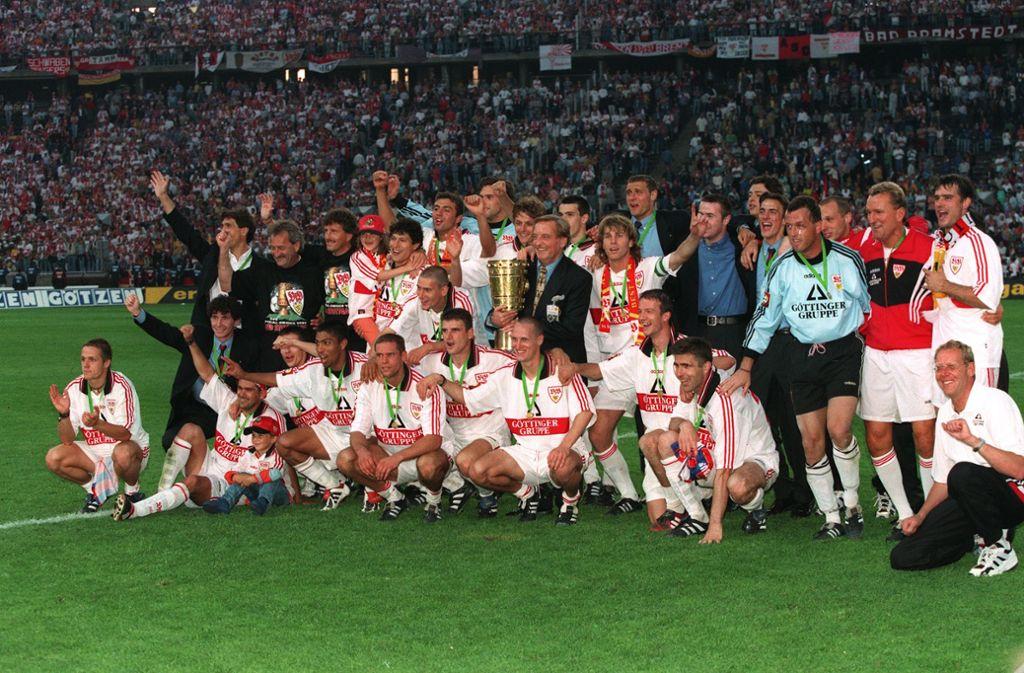 1997 konnte der VfB Stuttgart letztmals den DFB-Pokal gewinnen Foto: Pressefoto Baumann