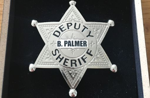 Sheriffstern für  OB Boris Palmer