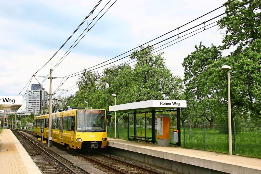 Der neue Streckenast Pflugmühle soll den Rohrer Weg mit dem SSB-Zentrum verbinden und damit eine Direktverbindung in den Synergiepark schaffen. Foto: Archiv/Kai Müller