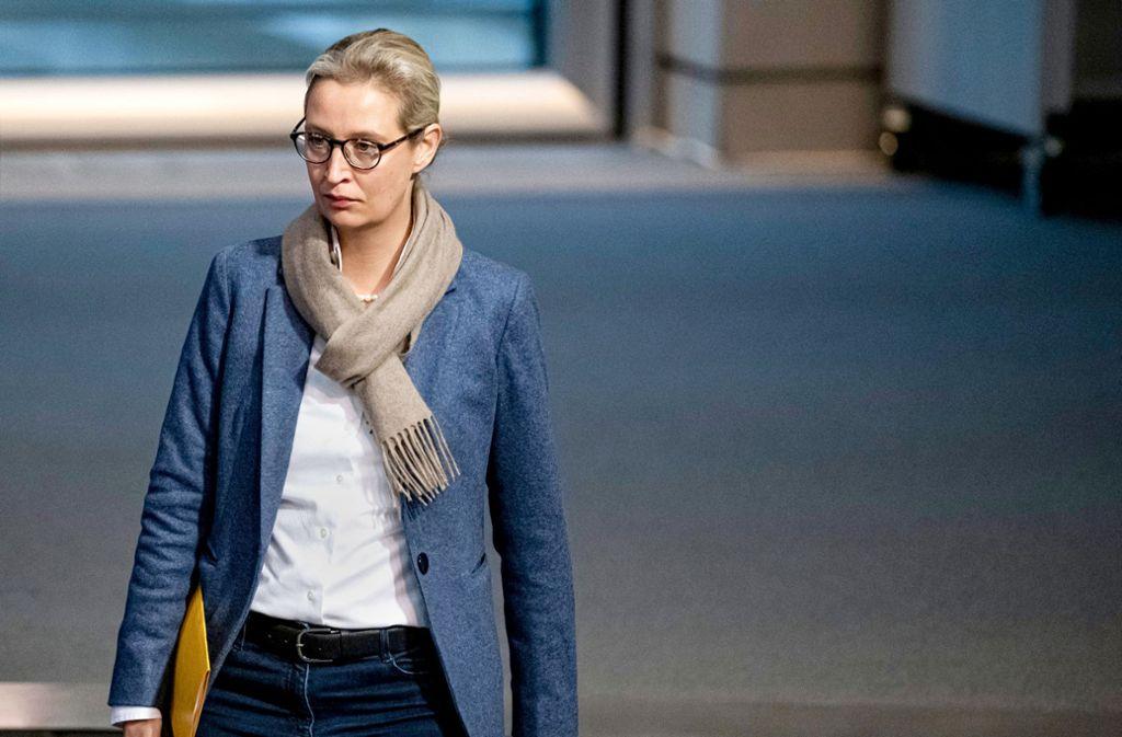 Alice Weidel bietet ihre Kandidatur für den baden-württembergischen Landesvorsitz an. Foto: dpa/Fabian Sommer