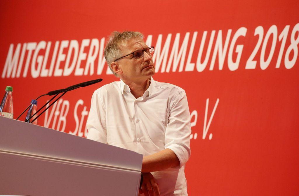 Michael Reschke blickt mit dem VfB Stuttgart in eine positive Zukunft. Foto: Pressefoto Baumann