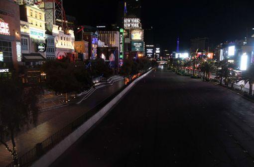 So gespenstisch sieht das menschenleere Las Vegas derzeit aus
