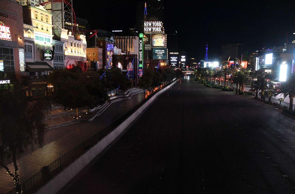 Auch in Las Vegas ruht aufgrund des Coronavirus derzeit das öffentliche Leben. Foto: AFP/Ethan Miller