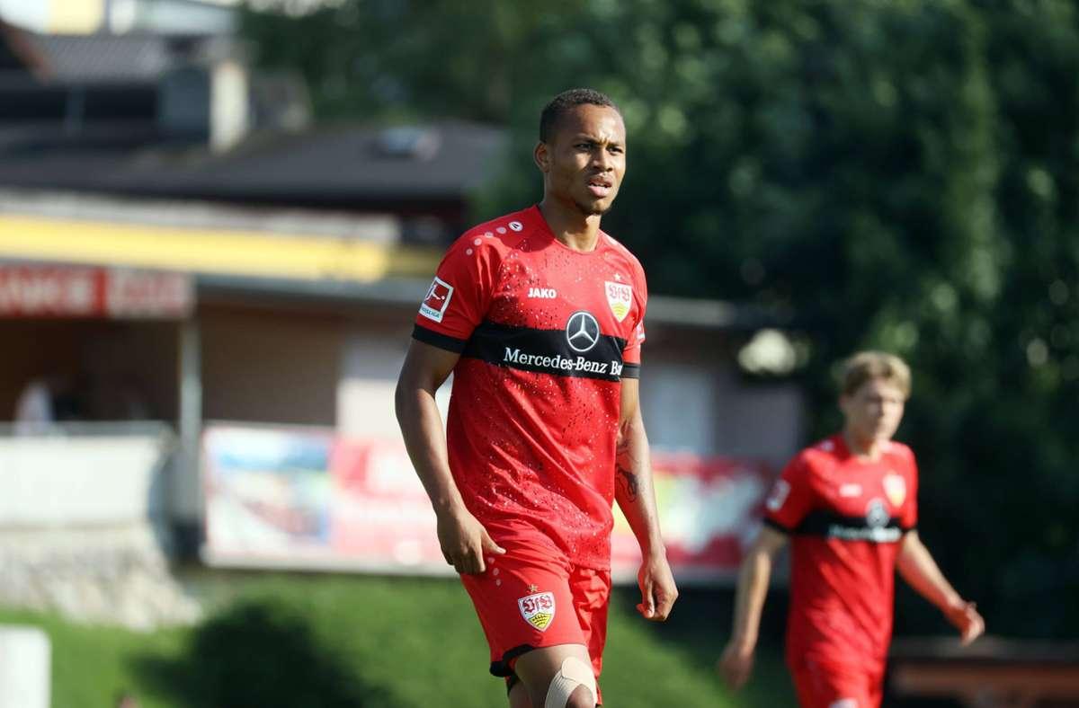 Nikolas Nartey war in der Vorsaison an den Zweitligisten SV Sandhausen verliehen. Foto: imago images/Sportfoto Rudel/Pressefoto Rudel/Robin Rudel via www.imago-images.de