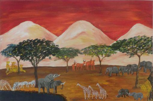 "Der ""Elefanten-Maler"" stellt aus"
