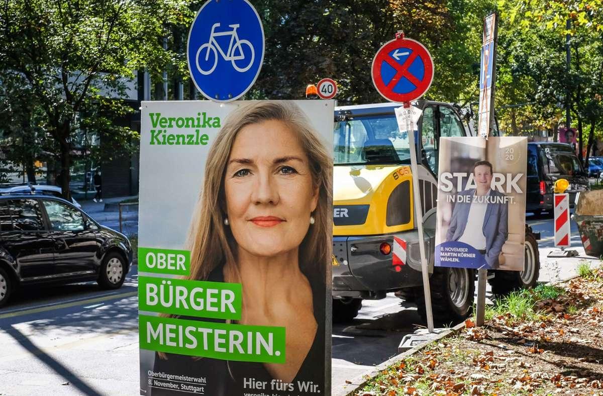 Das Ringen um den OB-Sessel im Stuttgarter Rathaus hat unübersehbar begonnen. Am 20. Oktober können wohl alle Kandidaten live erlebt werden. Foto: Lichtgut/Leif Piechowski