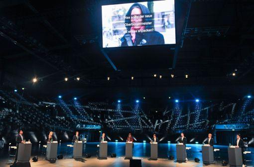 Sieben Kandidierende für den OB-Sessel bekennen Farbe