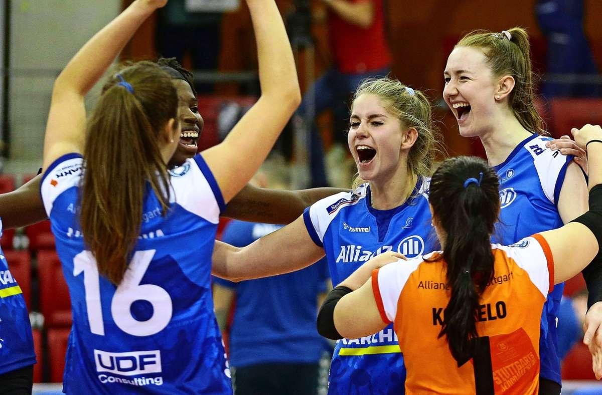 Deutsche Spielerinnen wie Pia Kästner (Mitte) sind die Ausnahme. Foto: Baumann