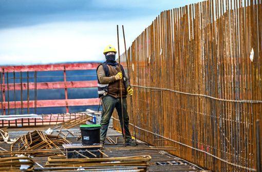 Der Bau der Klinik am Eichert  liegt im Zeitplan