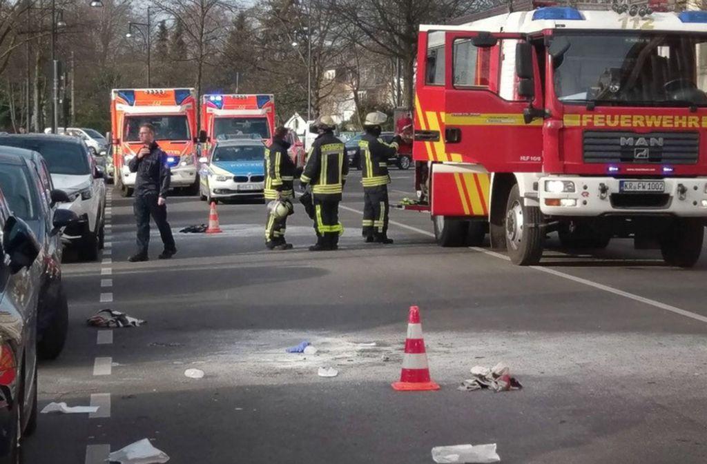 Schreckliche Szenen spielten sich vor einem Gerichtszentrum in Krefeld ab. Foto: dpa