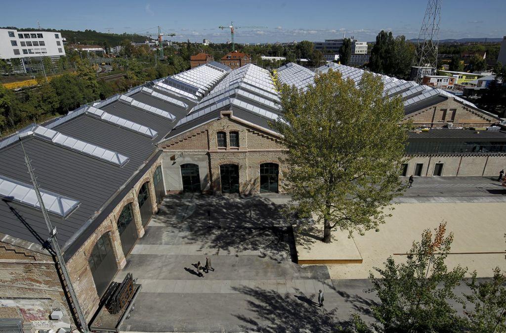 Blick auf die neuen Wagenhallen Foto: Lichtgut/Leif Piechowski