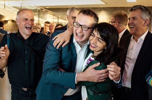Die Grünen triumphieren, CDU und SPD trauern