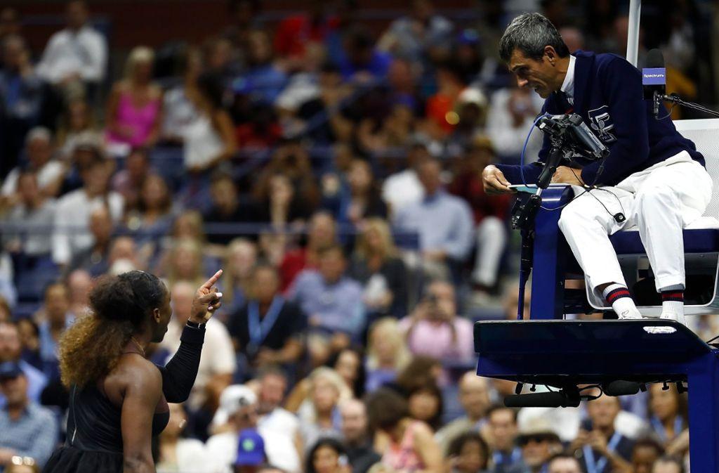 Carlos Ramos wurde beim Finale der US Open in New York von Serena Williams beschimpft. Foto: GETTY IMAGES NORTH AMERICA