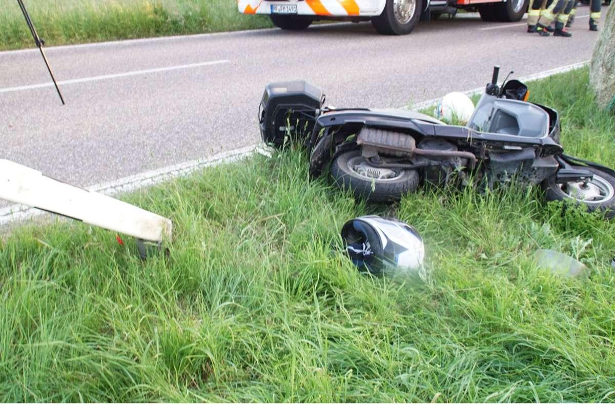 Der Mopedfahrer wurde lebensgefährlich verletzt. Foto: SDMG/SDMG / Gress