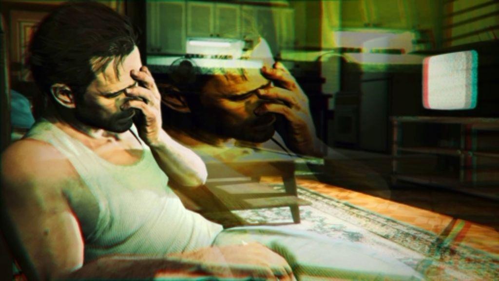 """Die Spannung im Computerspiel  """"Max Payne""""  (hier ein Szenenfoto) lebt  von den Albträumen, die den Antihelden  einholen. Foto: StZ"""