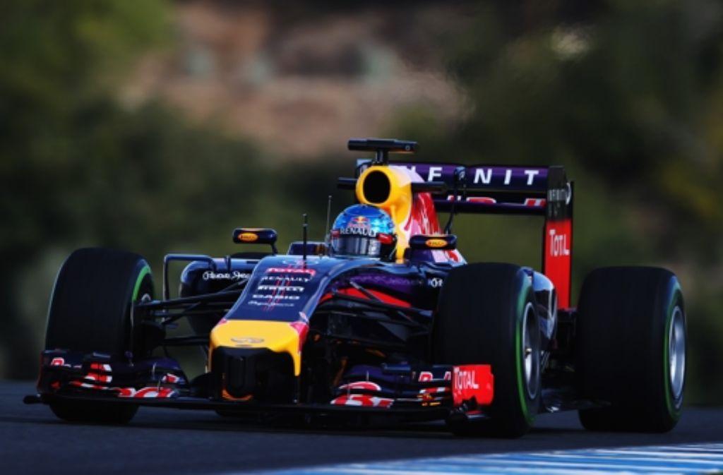 Für Weltmeister Sebastian Vettel und Red Bull sind die Tests im spanischen Jerez alles andere als gut gelaufen. Foto: Getty Images Europe