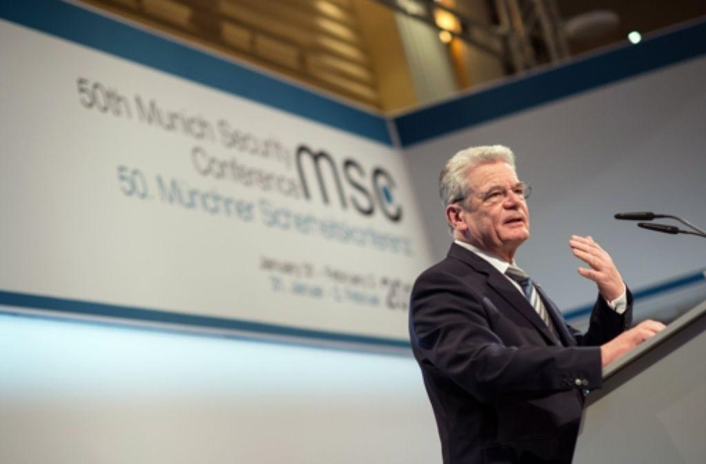 Der Bundespräsident will, dass sich Deutschland mehr engagiert in der Welt. Foto: Getty