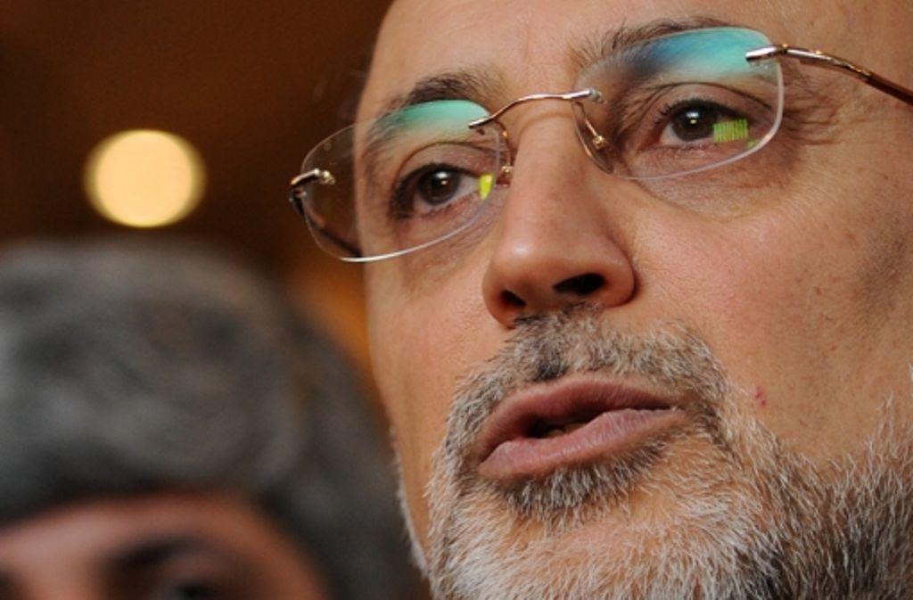 Teherans Außenminister Ali Akbar Salehi beharrt klar darauf, dass der Bürgerkrieg eine  innersyrische Angelegenheit sei. Foto: dpa