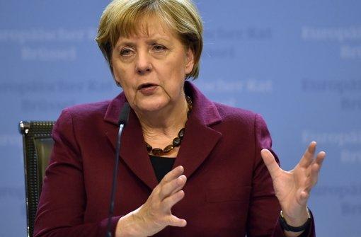 Angela Merkel allein zu Haus