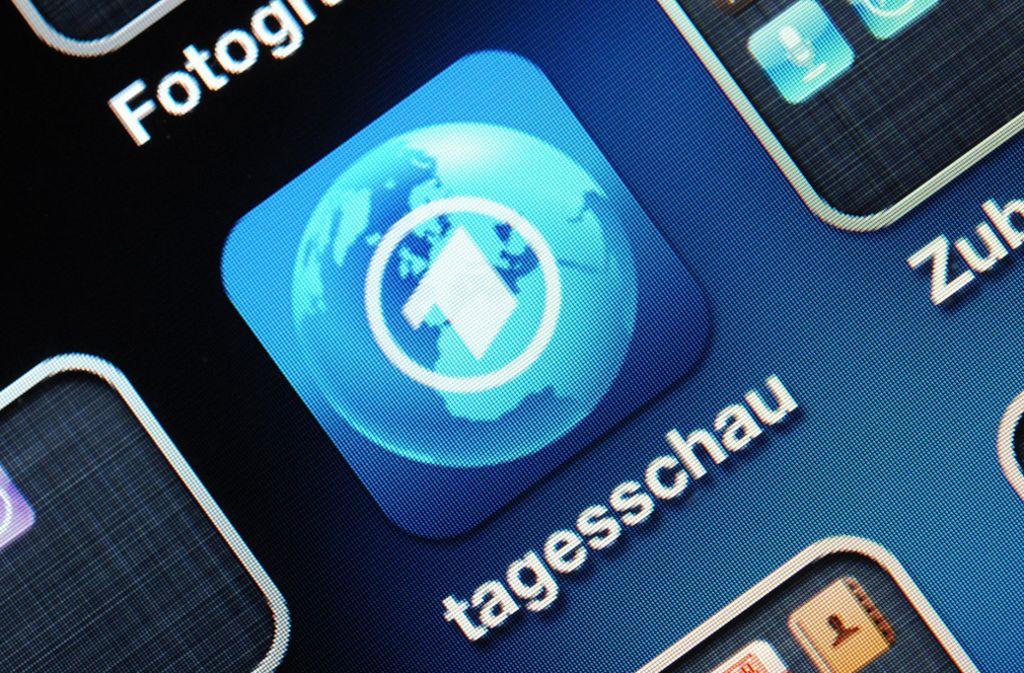 Digitale Angebote wie die App der Tagesschau finden ihren Weg zu junge Nutzern nicht. Foto: dpa
