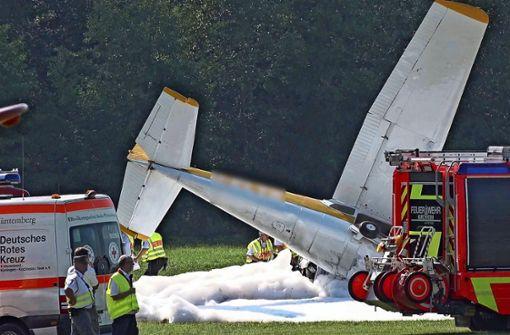 Flieger überstehen Kollision leicht verletzt