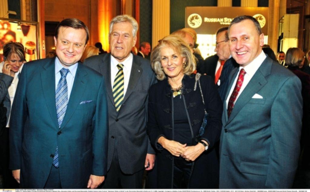 Der russische Lobbyist Andrey Bykov (links) ist in Politik und Wirtschaft gut vernetzt. Foto: Eventpress/Mathias Krohn
