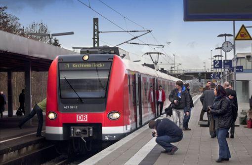 Lokführer muss in Kirchheim voll bremsen