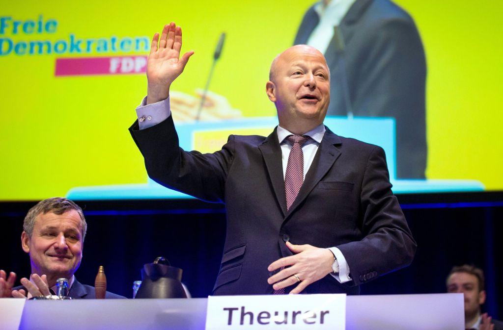 Die Südwest-FDP-Spitze in Fellbach: Hans-Ulrich Rülke und Michael Theurer Foto: dpa