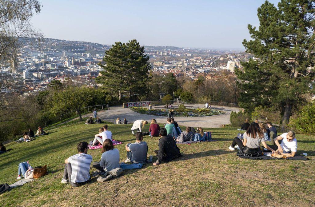 Weißenburgpark: beliebter Blick auf Stuttgart Foto: 7aktuell.de/Oskar Eyb