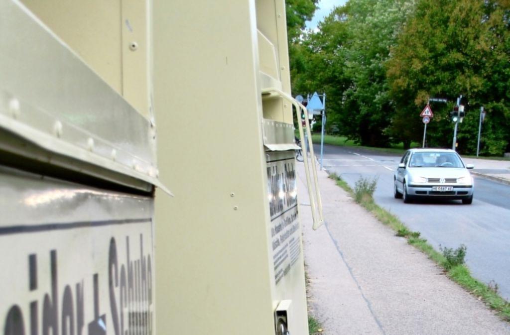 Bis vor Kurzem stand nur ein Container illegalerweise an der Florentiner Straße Inzwischen ist ein zweiter der selben Firma dazugekommen. Foto: Judith A. Sägesser