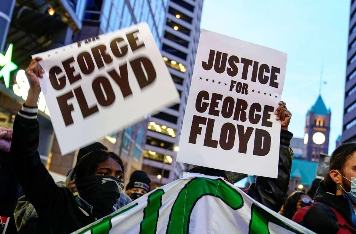 Demonstrationen begleiten den Prozess um den Tod von George Floyd. Foto: imago images/UPI Photo/JEMAL COUNTESS