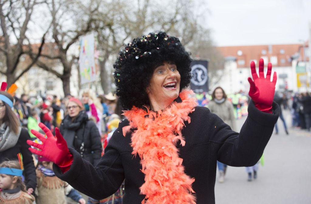 Auch die Oberbürgermeisterin Angelika Matt-Heidecker mischte sich unters närrische Volk. Foto: Horst Rudel