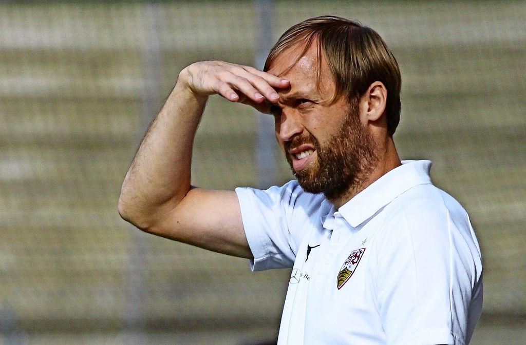 Andreas Hinkel trainiert den Regionalligisten VfB II. Foto: Pressefoto Baumann