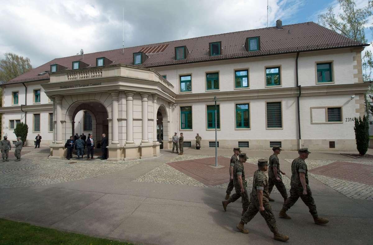 Das Hauptquartier der US-Streitkräfte in Europa (Eucom) befindet sich auf dem Gelände der  Patch Barracks in Stuttgart-Vaihingen. Foto: picture alliance/dpa/Marijan Murat