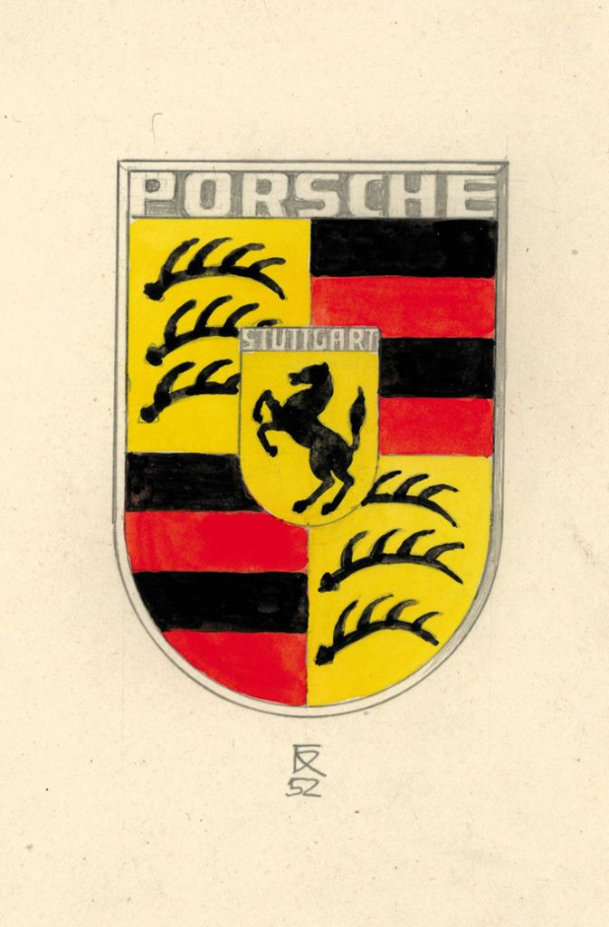 Als Initiator des heutigen Porsche-Wappens aus dem Jahr 1952 gilt der amerikanische Automobilimporteur Max Hoffman, der Ferry Porsche  um ein optisch ansprechendes Qualitätssiegel bittet. Anfang 1952 skizziert der Konstrukteur Franz Xaver Reimspieß, der bereits 1936 das Volkswagen-Logo entworfen hatte, ein Fantasiewappen.  Foto: Porsche