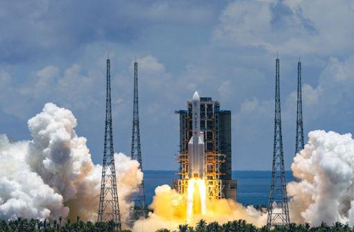 China startet Rakete zum roten Planeten