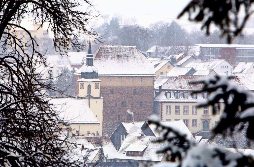 Der Schleglerkasten ist das bekannteste Wahrzeichen der Stadt Heimsheim. Die Chancen stehen gut, dass die Stadt das Gebäude kaufen und sanieren kann. Foto: Andreas Gorr/Archiv
