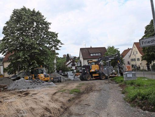 Kelterplatz wird umgebaut