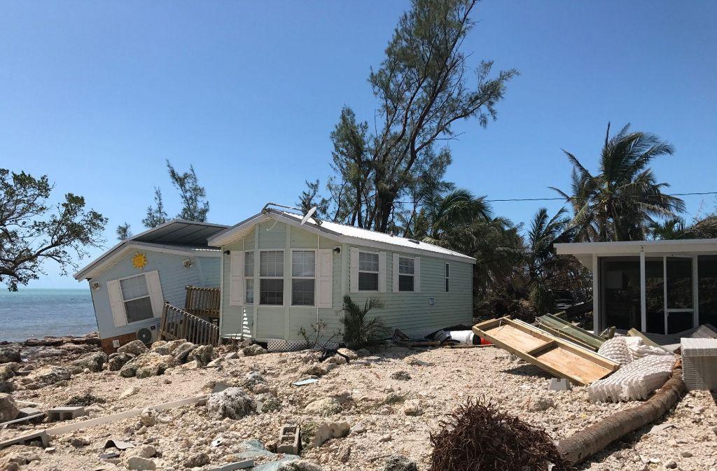 Auf der Inselkette Florida Keys wurde ein Viertel der Häuser zerstört. Foto: GETTY IMAGES NORTH AMERICA