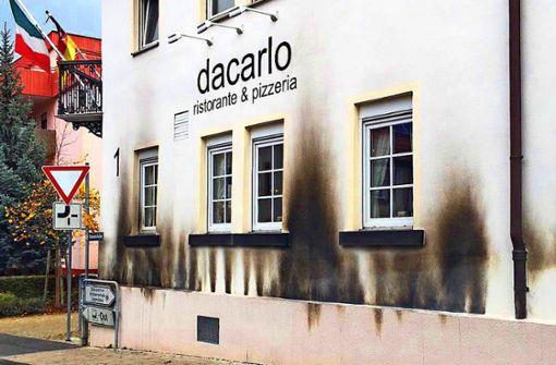 Mann verübt Brandanschlag  auf Pizzeria