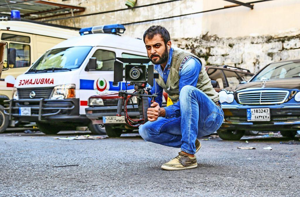 Zakarya Alsaadi als Fotograf und Kameramann Foto: Alsaadi