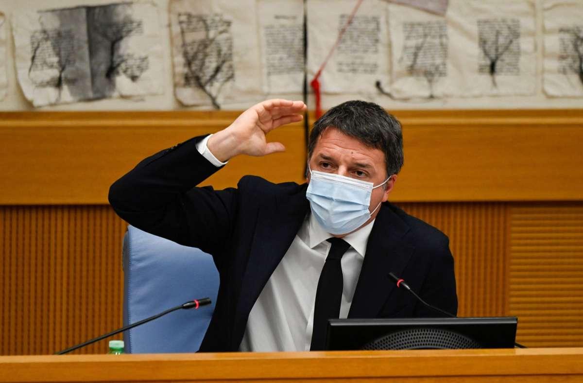 Ex-Ministerpräsident Matteo Renzi hat seine beiden Ministerinnen aus dem Kabinett abgezogen. Foto: AFP/ALBERTO PIZZOLI
