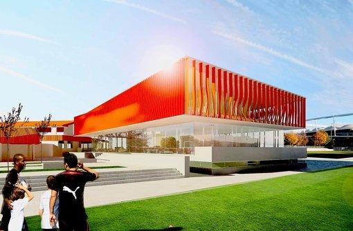 So könnte das neue Jugendzentrum neben dem Klubzentrum einmal aussehen. Foto: asp Architekten
