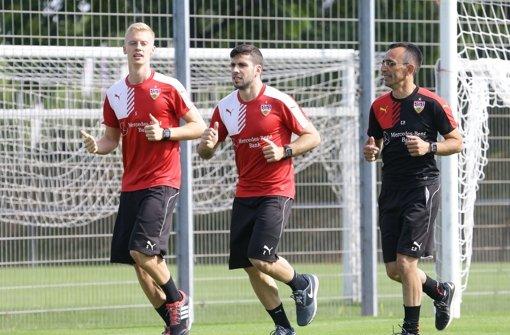 Erstes Training mit Timo und Papa