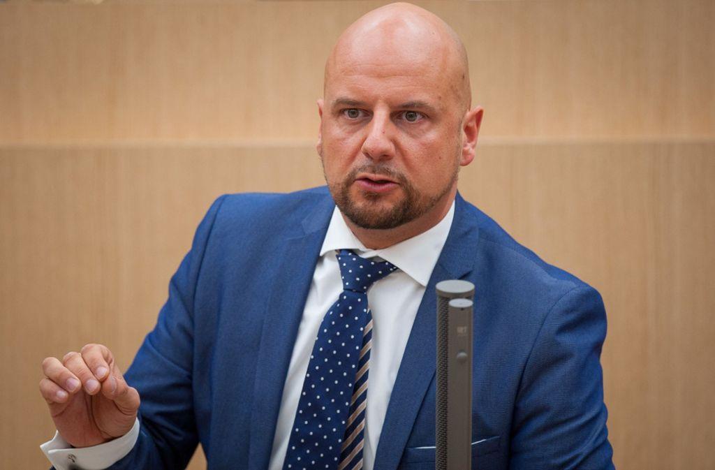 Der AfD-Landtagsabgeordnete Stefan Räpple hat sich klar hinter die Junge Alternative (JA) im Südwesten gestellt. Foto: dpa
