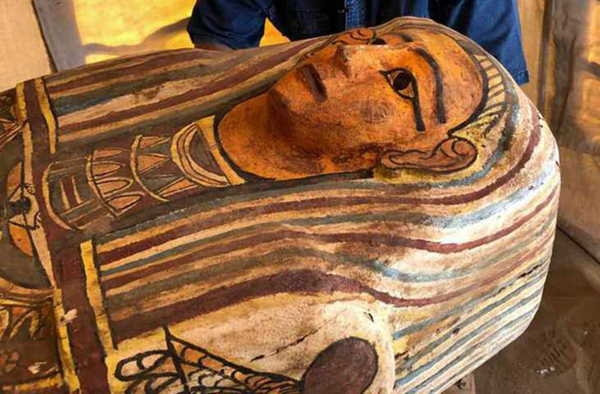 Die Särge lagen rund  2500 Jahre unter der Erde. Foto: Egyptian Ministry of Antiquities/AFP